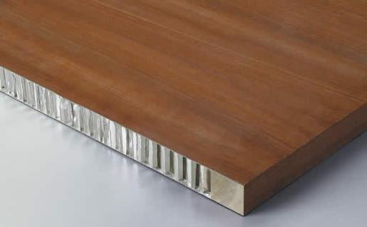 wood aluminum honeycomb panel